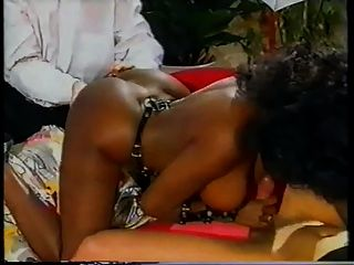 Ebony Ayes Fucks 2 White Guys And Gets A Facial From Both