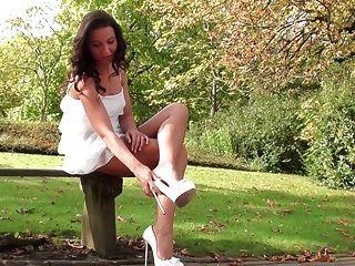 Upskirt View Under My Dress In Dimarni High Heels