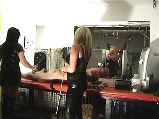 Two Mistresses Punish A Slave