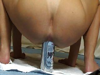 Elmer 50cl Beer Can In Ass + Gape