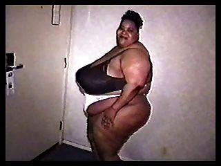 A 5 Foot Tall Big Black Woman With Huge Tits.