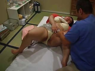 Busty Fat Asian Woman Goes For A Massage (censored)