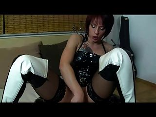 Silke Maiden And Her Latex-slave