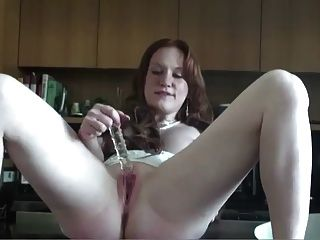 Real Redhead Lucy Pale Skin Pink Tits 2