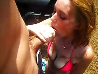 Outdoors Suck Fuck And Face Shot