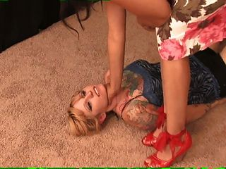 Mistress Eve Trampling A Girl. Trampling And Foot Worship