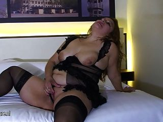Big Mama Loves To Play With Her Old Pussy