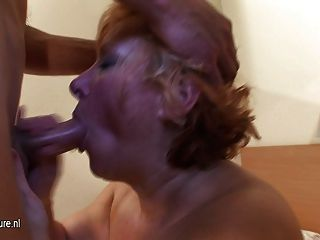 Mature Slut Mom With Saggy Tits Fucked By Young Boy