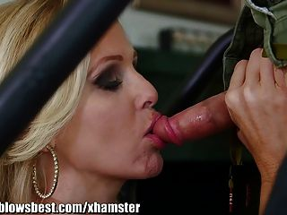 Mommybb Busty Milf Julia Ann Is Sucking My Tied Up Boyfriend
