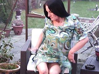 Smoking British Mature Mother Needs Young Cock