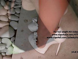 Upskirt Voyeur Under My Spandex Dress In Extreme High Heels