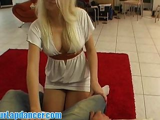 Perfectly Shaped Blonde Does Sexy Lapdance