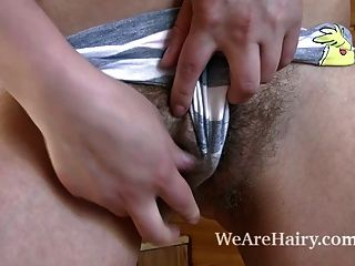 Beautiful Hairy Babe Nika Working In The Kitchen