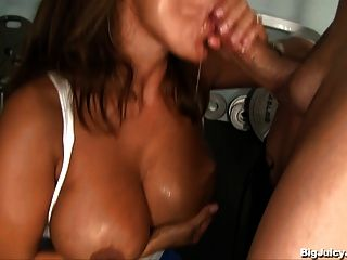 Busty Babe Uses Sex As A Workout