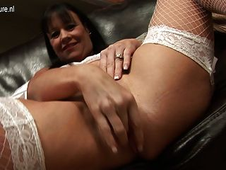 Dirty Uk Mom And Her Collection Of Dildos