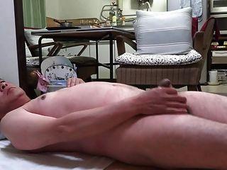 Japanese Old Man Masturbation Erect Penis