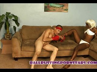 Street Fighter Interracial Ballbusting Sex With Elena