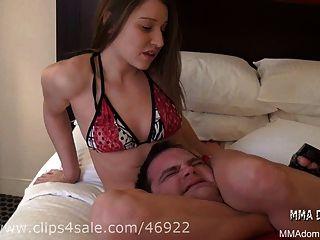 Mixed Wrestling - Nice Girl Headscissor Trampling Beatdown