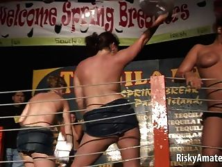 Sexy Naked Girls Next Door Dancing In The Night Club