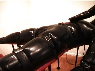 Inflatable Rubber Catsuit Bondage Femdom Mistress Alice Cbt