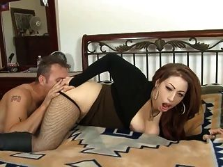 Latina Poison Takes A Load On Her Brown Nipples