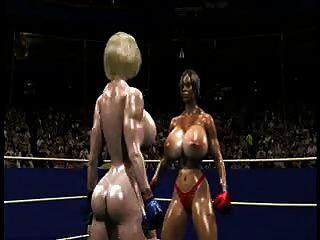 Fpz3d S Vs G 3d Toon Fistfight Catfight Big Tits One-sided