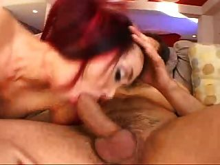Asian Babe Gets Her Ass Used By 2 Guys