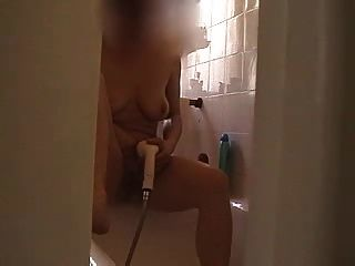 Wife Masturbating In The Shower - 008