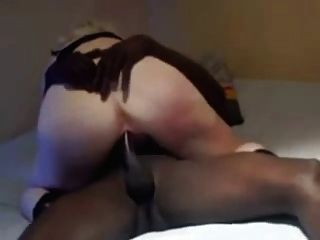White Pussy Cums Hard On Black Dick  Cowgirl Style
