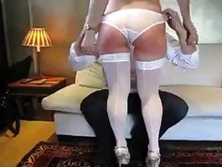 Otk Spanking In White Stocking
