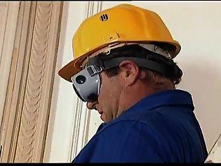 Ebony Construction Worker  Fucking On The Job