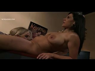 Julia Ann And Raylene Great Tongue Kissing