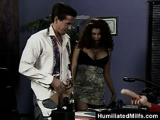 Office Double Penetration For Busty Milf