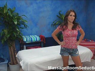 Busty Teen Seduced On Massage Table