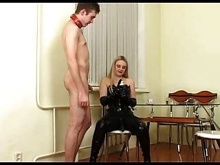 Blonde Russian Mistress With Strapon