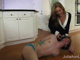 Stepmom Julia Ann Fucks Stepson In Ass!