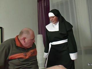 German Grandma Nun Get Fucked With Not Dad In Sextape