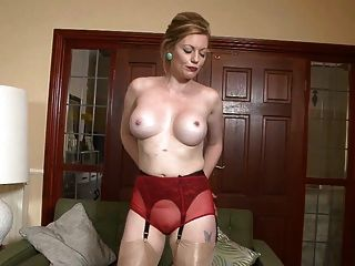 Hot Classy Milf In Shiny Smooth Nylons
