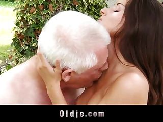 White-haired Old Man Fucks Smooth Skinned Teenie