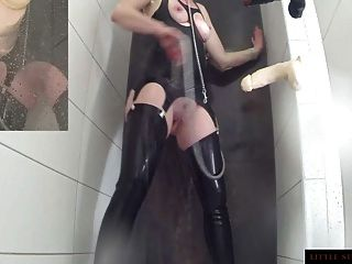 Enema  Ass Cleaning Latex Shower Teaser Little Sunshine Milf