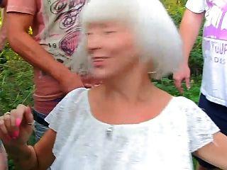 Sexy Granny Sucks Stranger Cocks