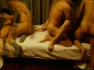 Chinese Wife Swapping Club Three Couples Group Sex