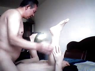 Mature Chinese Couple Playing