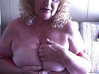 Bbw Granny In Red Bra And Panties Masturbates For You