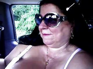 Granny Handjob #7 Chunky Italian In The Car