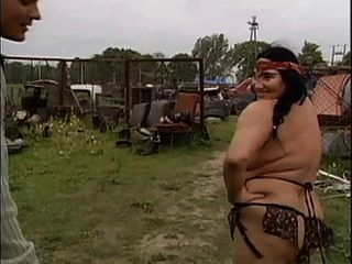 Ugly Granny With Huge Boobs Fucked  By The Mechanic 1