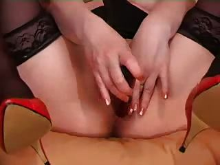 Perverted Mother Caught By Not Her Son With A Dildo In   Ass