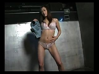 Sexy Japan Gogo Girl With Glasses Striptease Dance