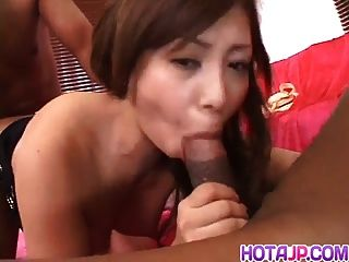 Japanese Av Model With Nice Tits Goes Wild On Black Dicks