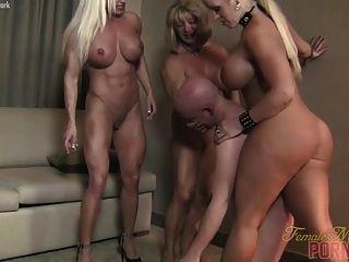 Three Muscle Women Destroy Dante